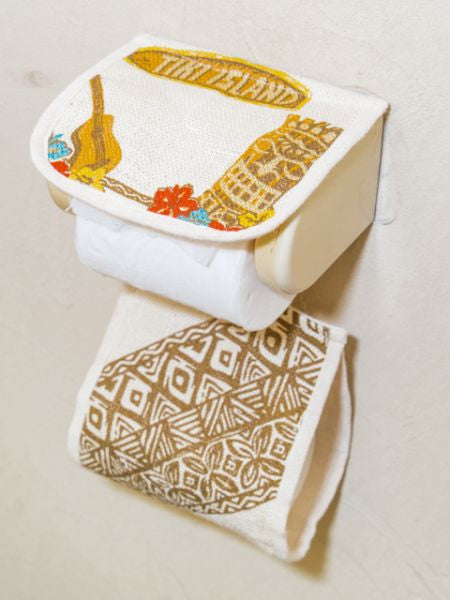 Hawaiian Jute Toilet Paper Holder