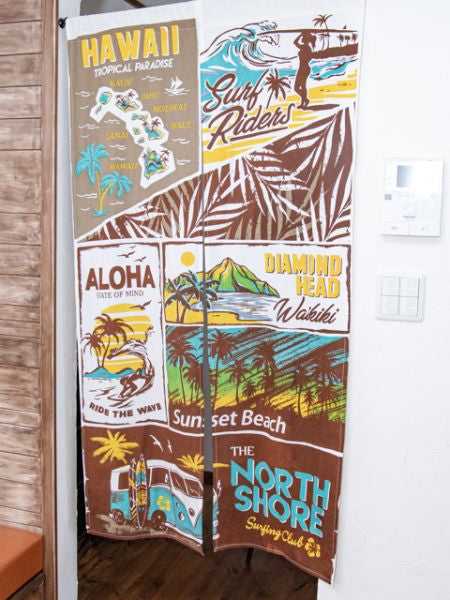 Comic Aloha NOREN Curtain-Home Decor-Ametsuchi