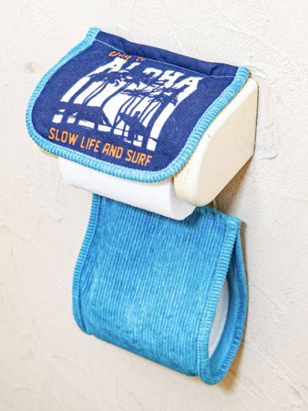 Corduroy ALOHA Toilet Paper Holder