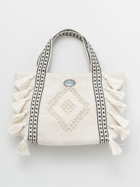 Woven Cotton Mni Tote Bag