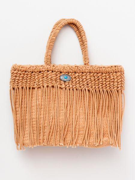 Woven Cotton Fringe Bag