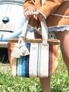 Hand Woven Multi Striped Tote Bag-Ametsuchi