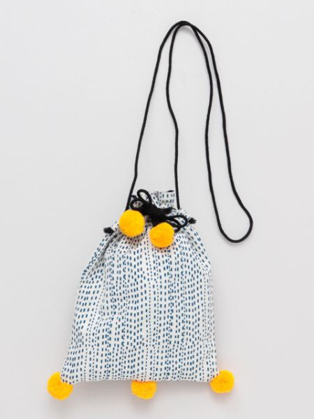 Pompon KINCHAKU Shoulder Bag L
