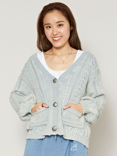 Cotton Knitted Short Cardigan-Cardigans & Outerwear-Ametsuchi