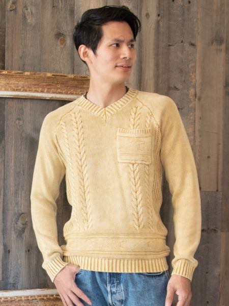 Cotton Knitted Men's Top-Tops-Ametsuchi