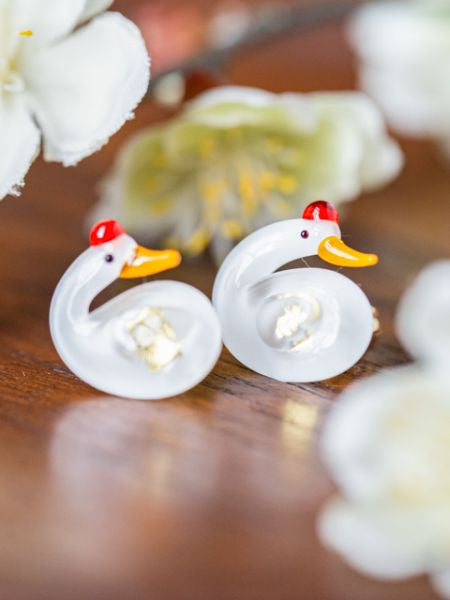 Auspicious Charm Glass Earrings-Earrings-Ametsuchi