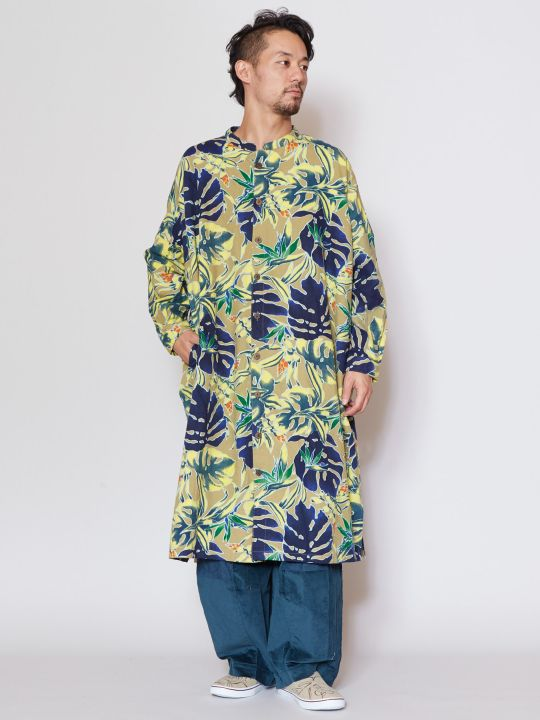 Cotton Flannel Long Shirt-Ametsuchi