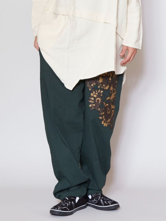 Embroidered Stretchable Pants-Ametsuchi