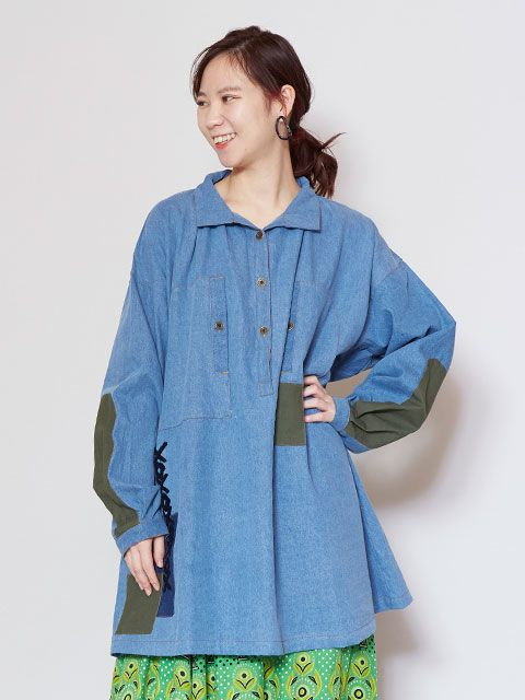 Shepherd's Denim Tunic Top
