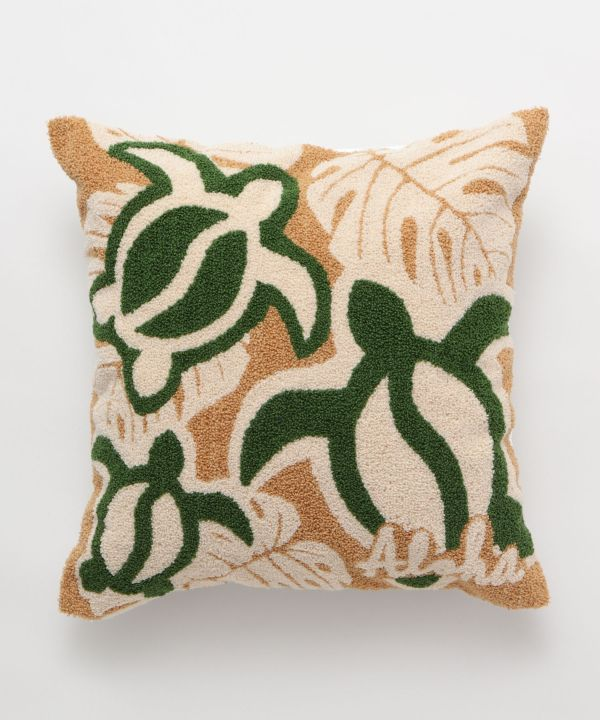 Hawaiian Chenille Embroidery Pillow Case-Cushion Covers-Kahiko- Ametsuchi