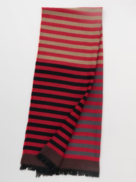 Color Block Striped Shawl-Scarves-Ametsuchi