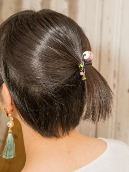HOTARUDAMA Glass Beads Hair Tie