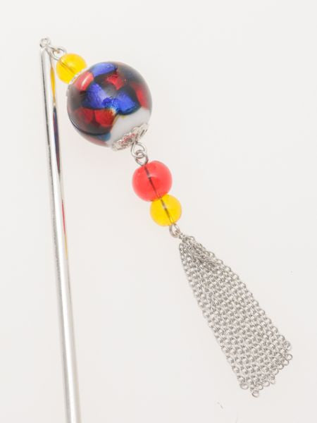 HOTARUDAMA Glass Bead KANZASHI Hair Stick