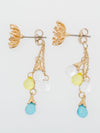 Winter Flower Dew Earrings-Earrings-Ametsuchi