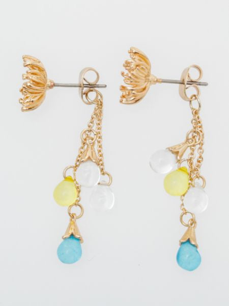 Anting-anting Embun Bunga Musim Sejuk -Earrings-Ametsuchi