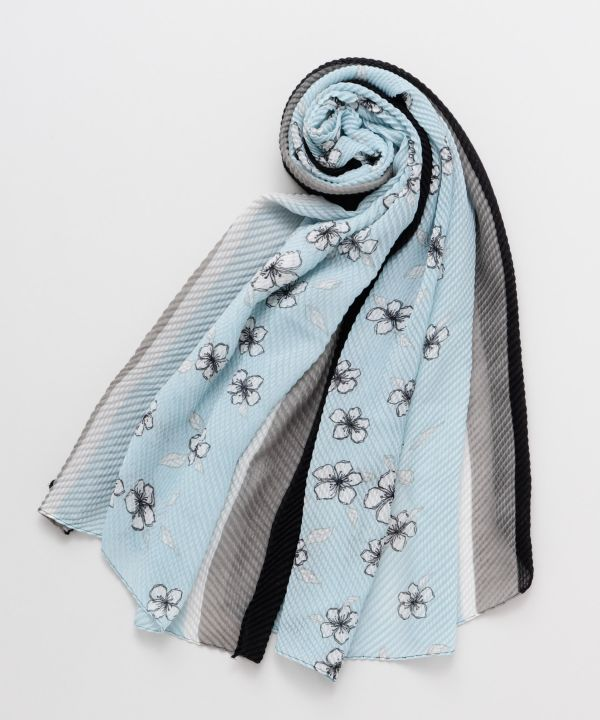 Floral Crepe Scarf