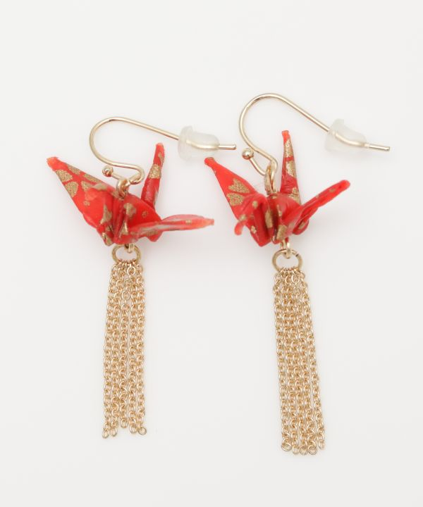 Flying ORIGAMI Crane Earrings