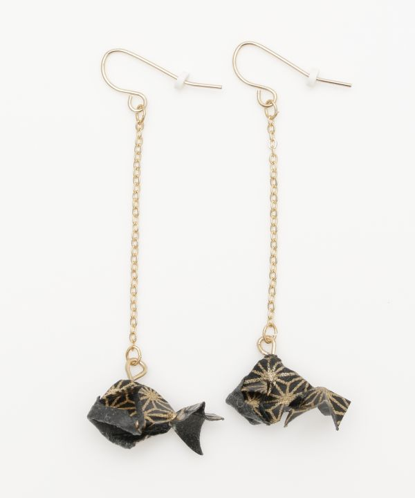 Fluttering ORIGAMI KINGYO Earrings-Earrings-Ametsuchi