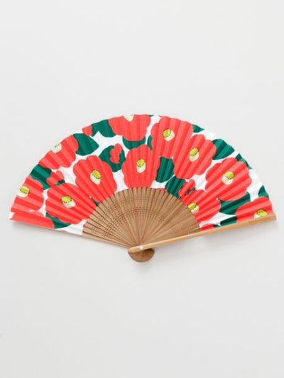 Camellia Foldable SENSU Fan with Pouch-Ametsuchi