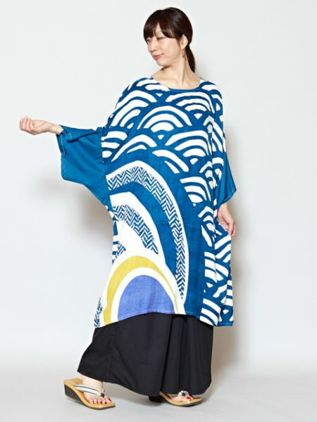 SEIGAIHA Wave x Geometrical Pattern Dress