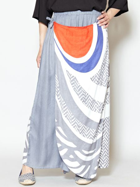 SEIGAIHA Wave x Geometrical Pattern Wrap Pants