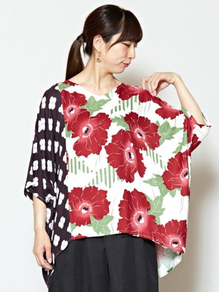 Top Floral Hollyhock-Ametsuchi