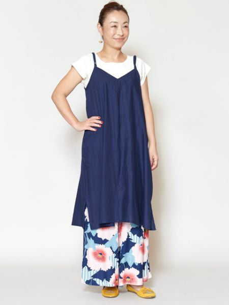 Cotton Kamisol Midi Dress-Dresses-Ametsuchi