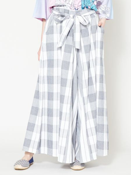 BENKEI-GOUSHI Plaid Wide Leg Pants