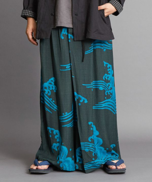 KISSHO MON Wide Pants-Pants & Shorts-Kaya- Ametsuchi