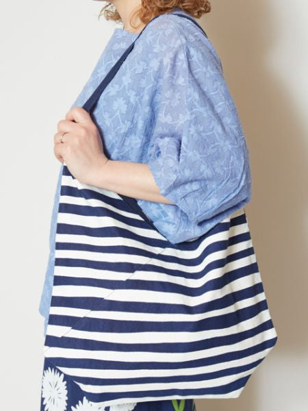 Blue Colorblock Shoulder Bag-Bags & Purses-Ametsuchi