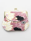 Floral Pattern Twin GAMAGUCHI Purse