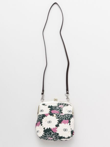 Floral Pattern GAMAGUCHI Shoulder Bag