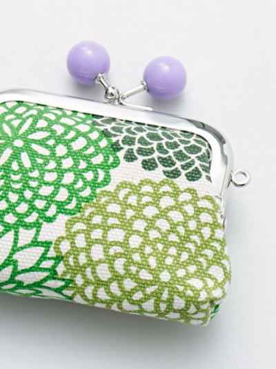 HANPU Canvas Cotton Floral Small GAMAGUCHI Purse-Bags & Purses-Ametsuchi