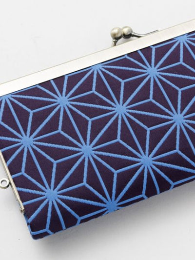 Japanese Traditional Crest Matelasse GAMAGUCHI Clutch Wallet-Bags & Purses-Ametsuchi