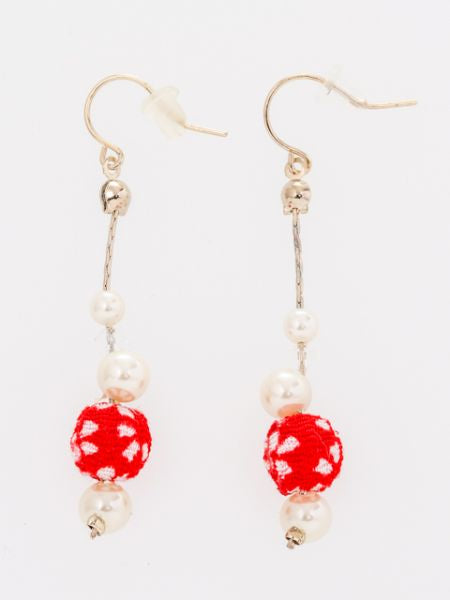 SAKURA CHIRIMEN Ball Earrings