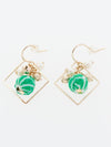 ASANOHA CHIRIMEN Ball Earrings-Earrings-Ametsuchi