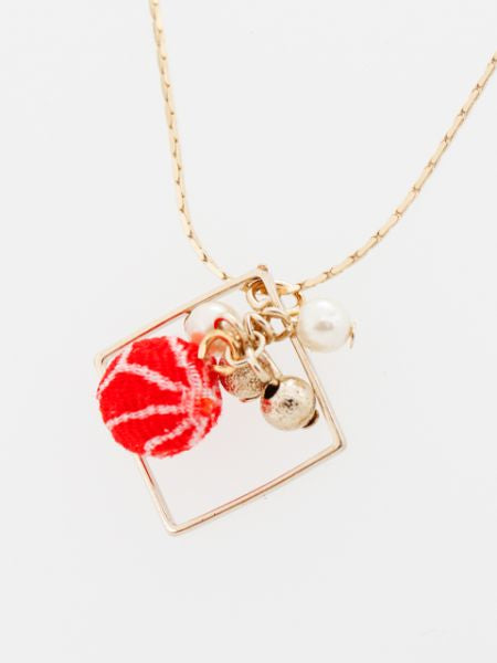 ASANOHA CHIRIMEN Ball Necklace-Ametsuchi