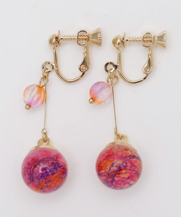 PON-PIN Clip Earrings