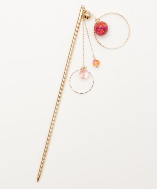 PON-PIN KANZASHI Hair Stick-Hair Accessories-Kaya- Ametsuchi