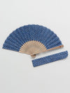 KANOKO Pattern Foldable SENSU Fan with Pouch-Ametsuchi