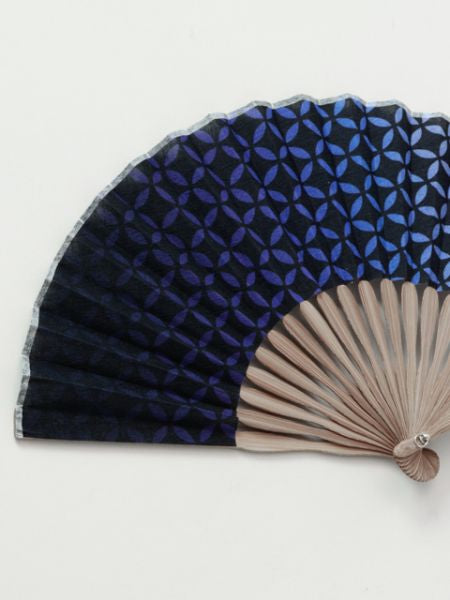 SHIPPOU Pattern Foldable Fan with Pouch-Ametsuchi