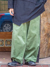Patchwork Wide Pants-Ametsuchi