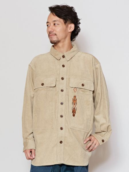 Navajo Stickerei Cord Shirt