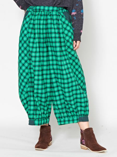 Plaid Pattern Balloon Pants-Pants & Shorts-Ametsuchi