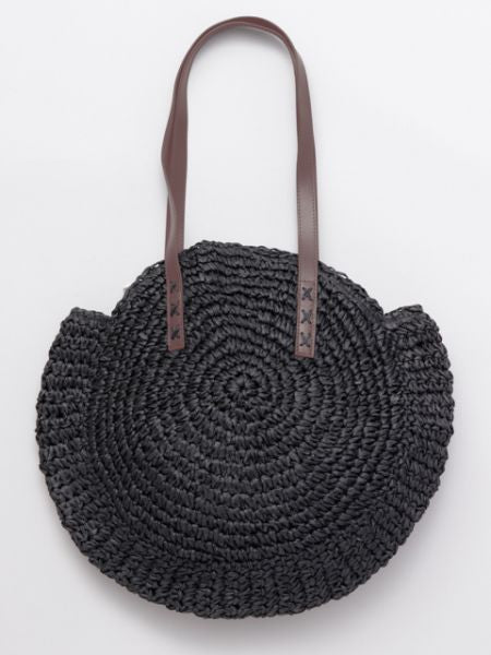 Paper Knit Round Bag