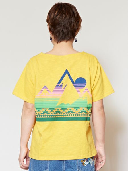 T-shirt en coton flammé SUN & MOUNTAIN