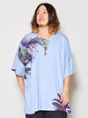 Botanical Pattern Oversized Men 's Tee-Ametsuchi