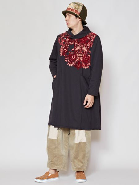 KALAMKARI Pattern Sweat Nomad Jacket-Ametsuchi
