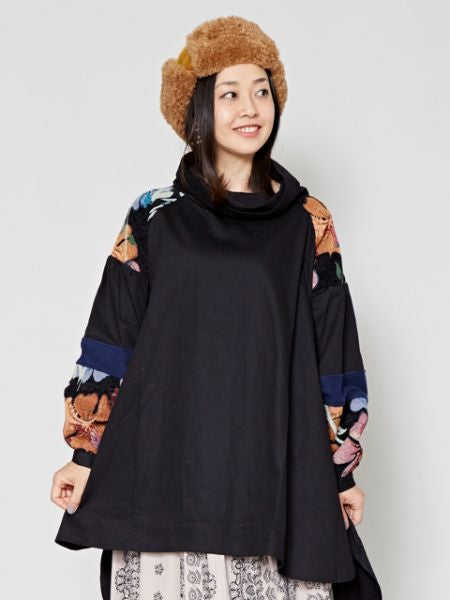 Volume Sleeve Bohemian Tunic Top