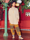 Cotton Twil Patchwork Pants-Pants & Shorts-Ametsuchi